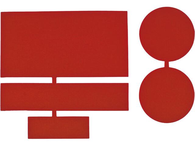 CAMPZ Parches Reparadores Nylon 5 Piezas, rojo